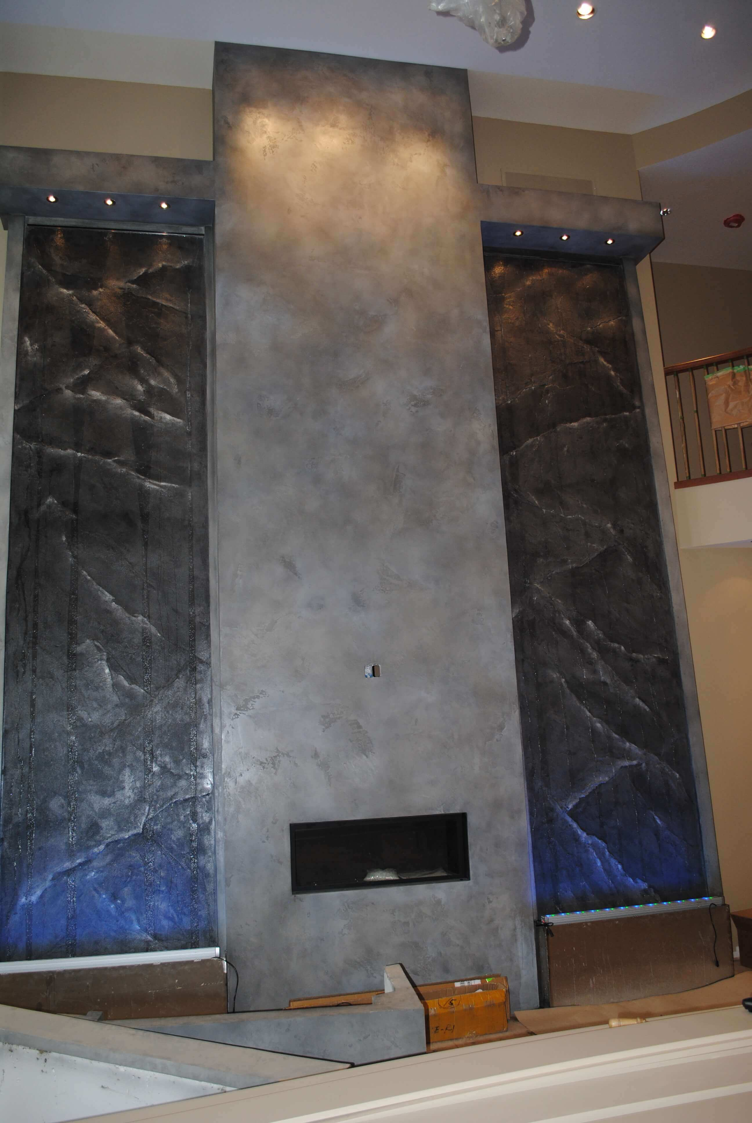 the features resort portfolio las m gallery water wall vegas at structures lobby spa nv interior casino by item